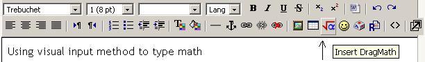 DragMath button