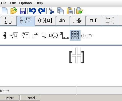 latex type matrix