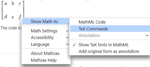 View Latex code MathWit tutorial